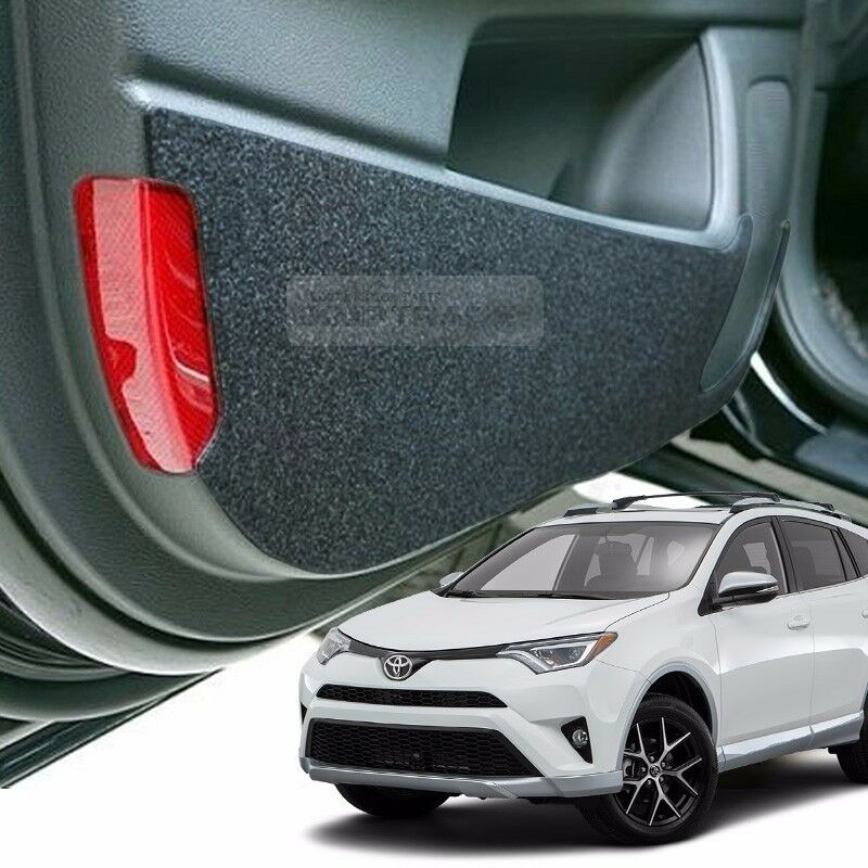 Felt Inside Door Shield Cover Scratch Kick Protector Black For Toyota 2016 Rav4 Ebay