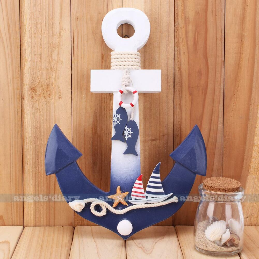 Sea ocean anchor wall hook ship starfish beach party decor for Anchor decor