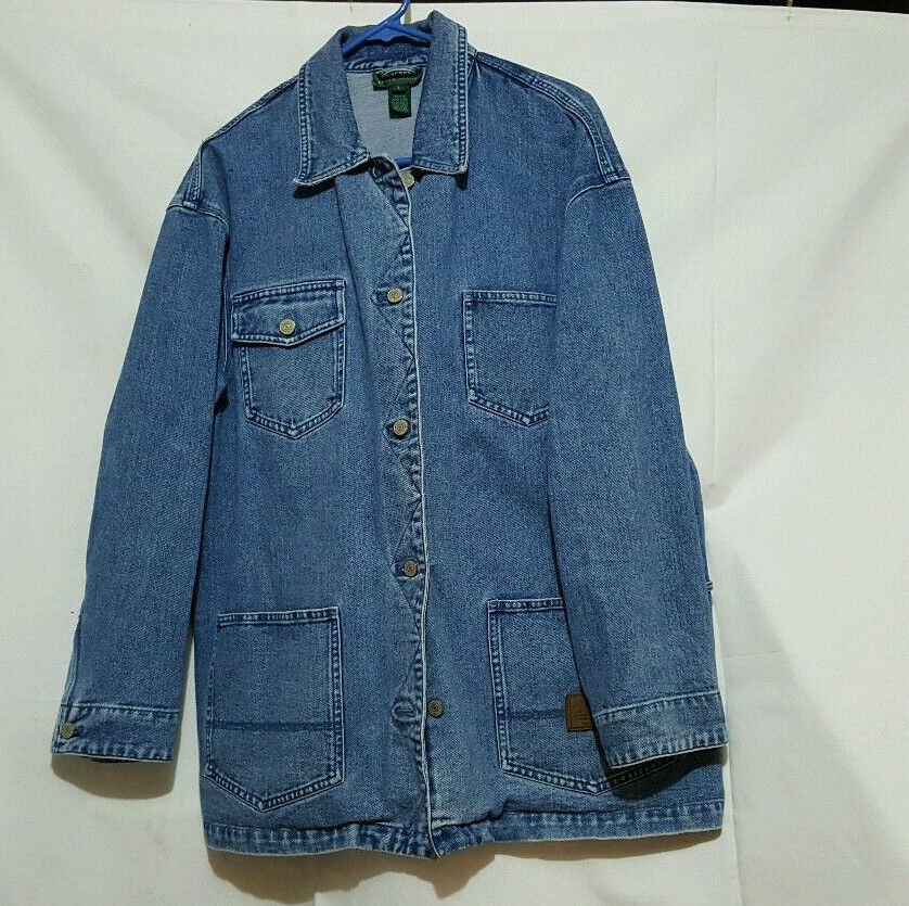 Ralph Lauren Denim Jean Jacket Womens Sz L Lauren Outdoor Clothing | eBay