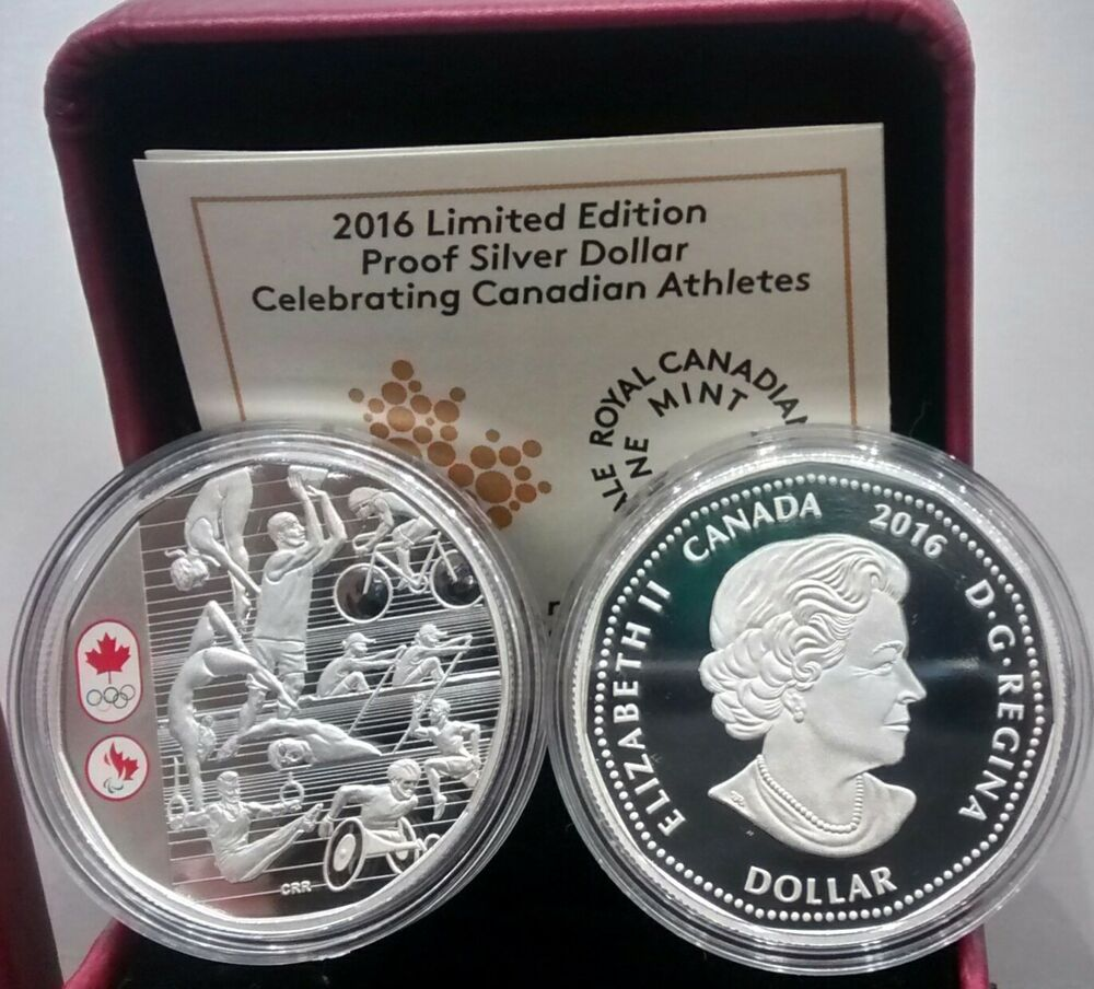 Limited Edition Proof Pure Silver Dollar 1 Coin 2016 Rio