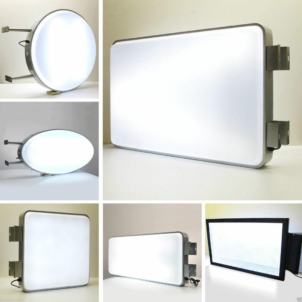 Porch Light Box: Multi Blank Rectangular /Round 1 Illuminating Projecting