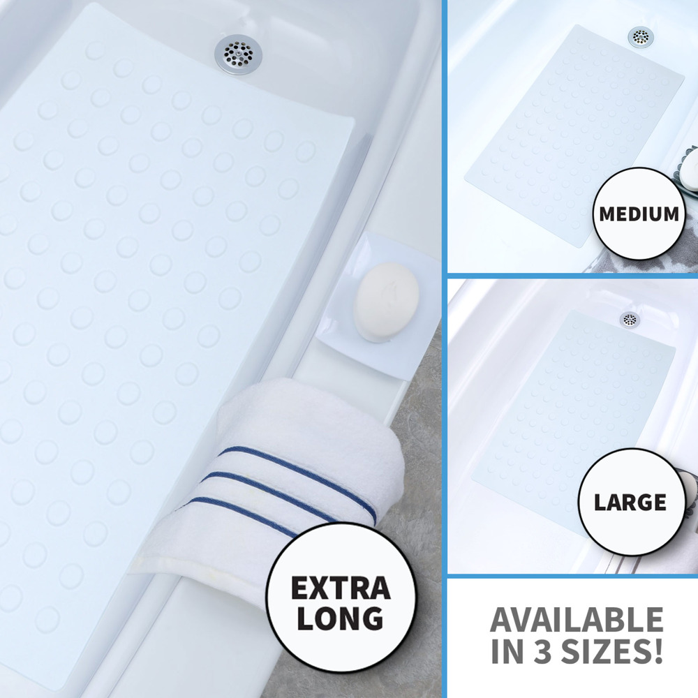 Medium Large Amp Extra Long Rubber Bath Safety Mat With