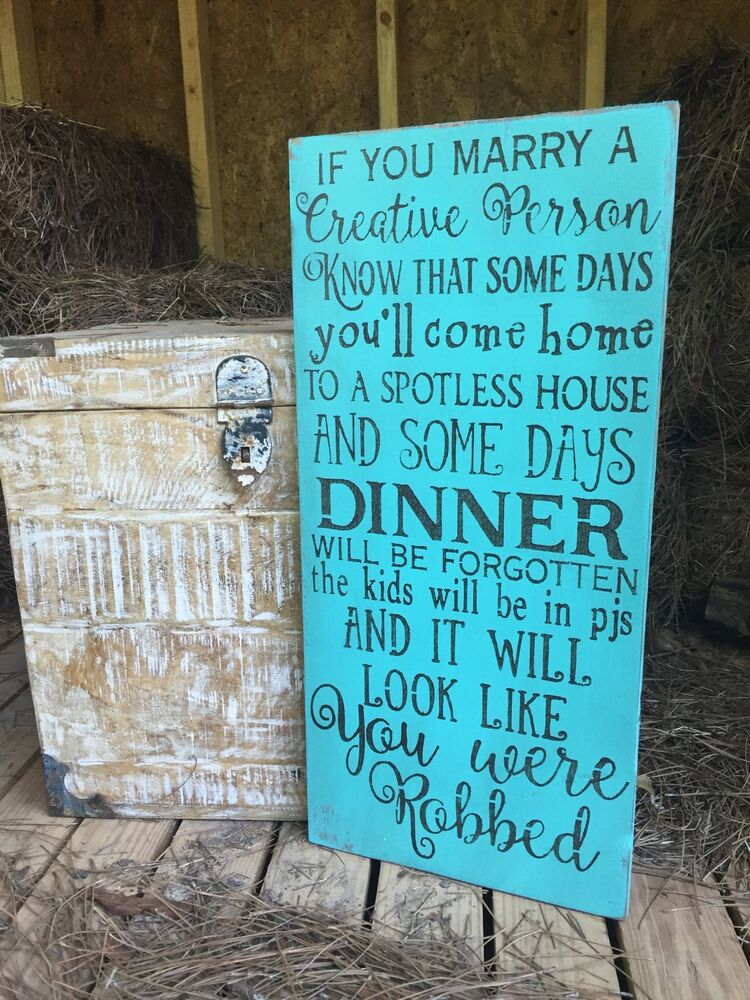 Large Rustic Wood Sign Quot If You Marry A Creative Person