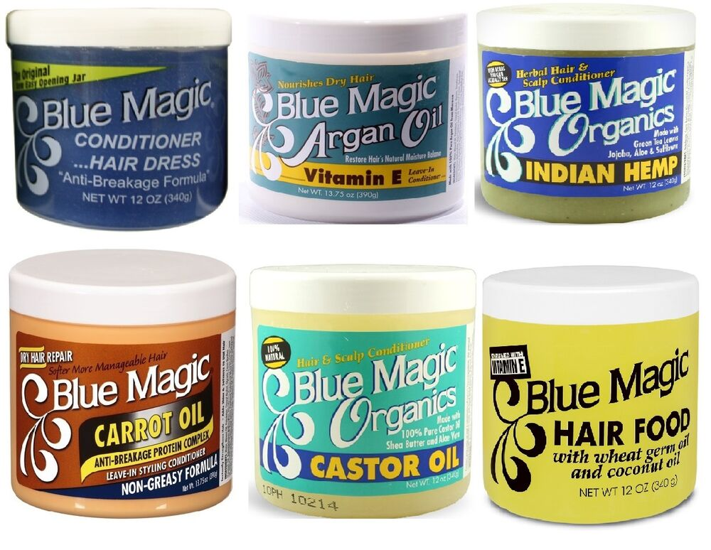 Blue Magic Hair Cream Conditioner Grease Pressing Oil