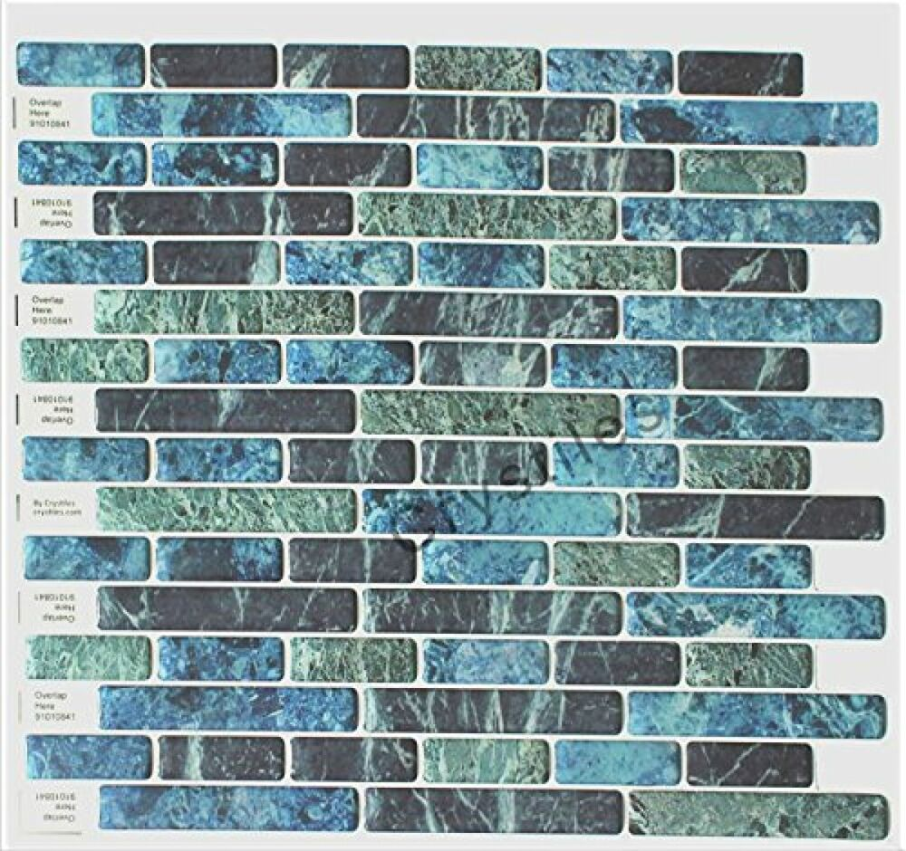 Best X10 Peel N And Stick Backsplash Tile For Kitchen: Crystiles Peel And Stick Self-Adhesive Vinyl Wall Tiles