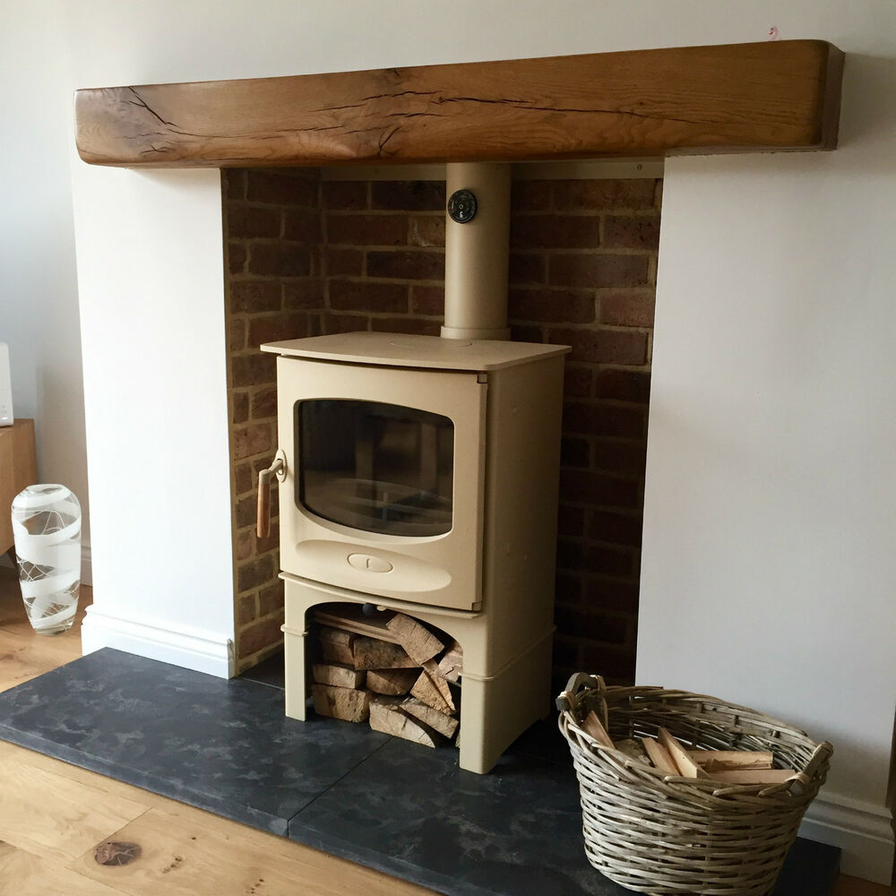 Oak Beam Fireplace Shaped Floating Shelf Surround