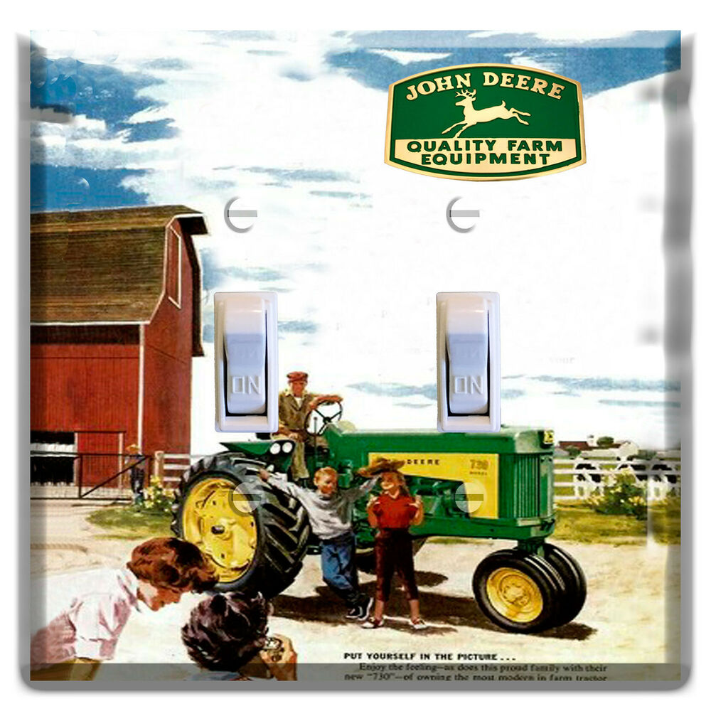 John Deere Home Decor : John deere light switch wall plate covers outlet man cave