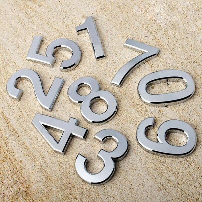 1pcs Modern Hotel Apartment House Numbers Plaque Digits