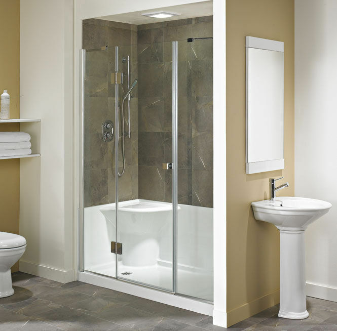 neptune koya acrylic shower base with seat 60x32 ebay. Black Bedroom Furniture Sets. Home Design Ideas