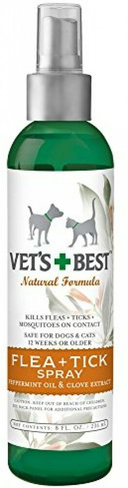 vet 39 s best natural flea and tick spray 8 ounce ebay. Black Bedroom Furniture Sets. Home Design Ideas