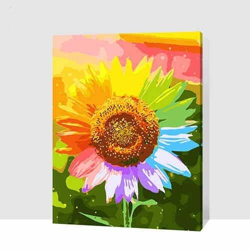 Paint By Number On Canvas Diy Acrylic Painting Kit 16 Quot 20