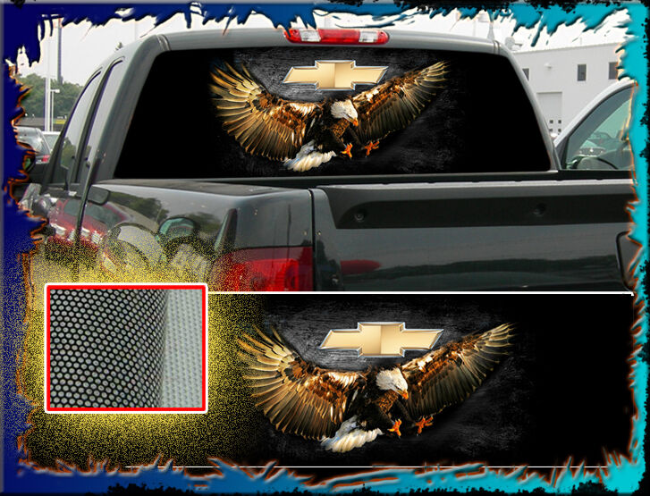 Chevy Chevrolet Bow Tie Quot Truck Rear Window Graphic Quot Free