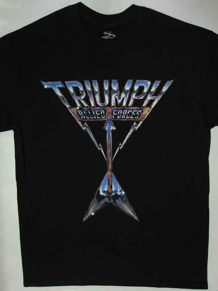 triumph allied forces t shirt s xxl night ranger loverboy april wine y t ebay. Black Bedroom Furniture Sets. Home Design Ideas