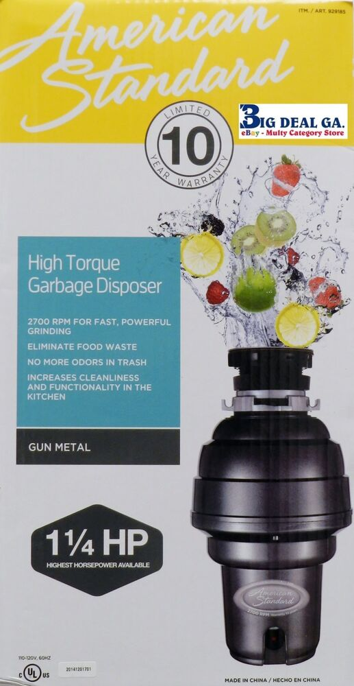 American Standard 1hp Kitchen Waste Disposer Food Garbage