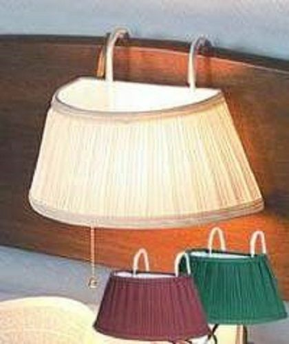 Over The Bed Light With Shade, 3 COLORS Headboard Lamp For