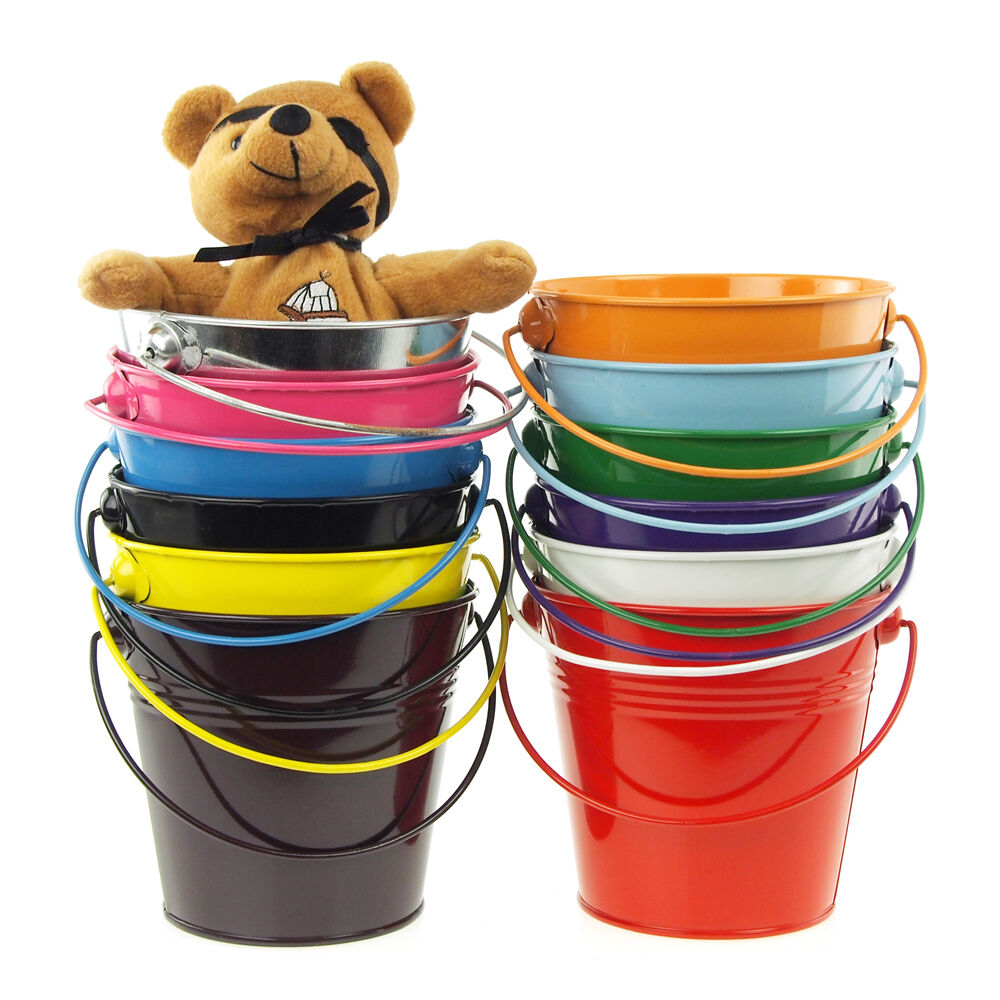 Metal Pail Buckets Candy Favor Boxes 5 Inch Ebay
