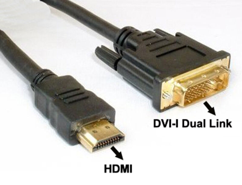 Hdmi To Dvi I Dual Link 24 5 Cable Dvi To Hdmi Cord Hdtv