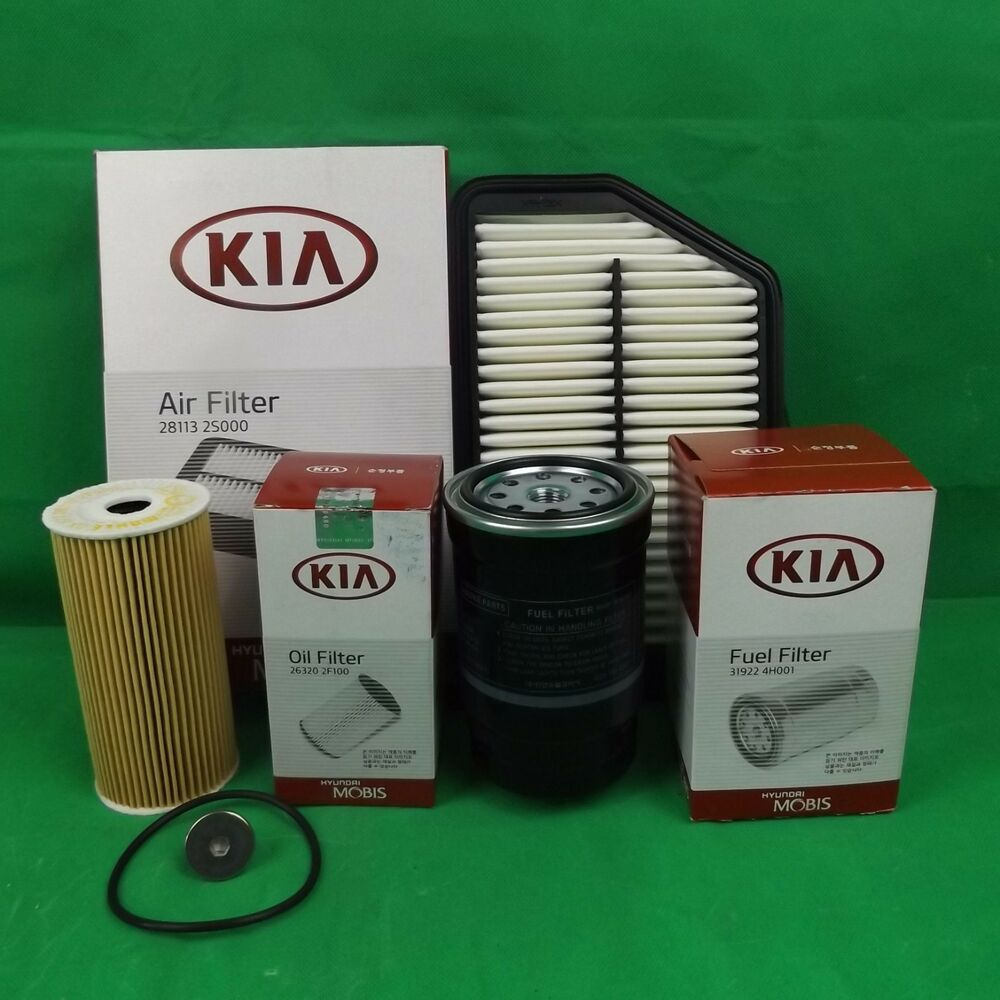 Genuine Kia Sportage Suv 20l Crdi Diesel Filter Pack Oil Air 2005 Fuel Ebay