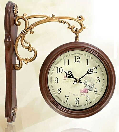 New Antique Style Double Faced Clock Interior Double Sided