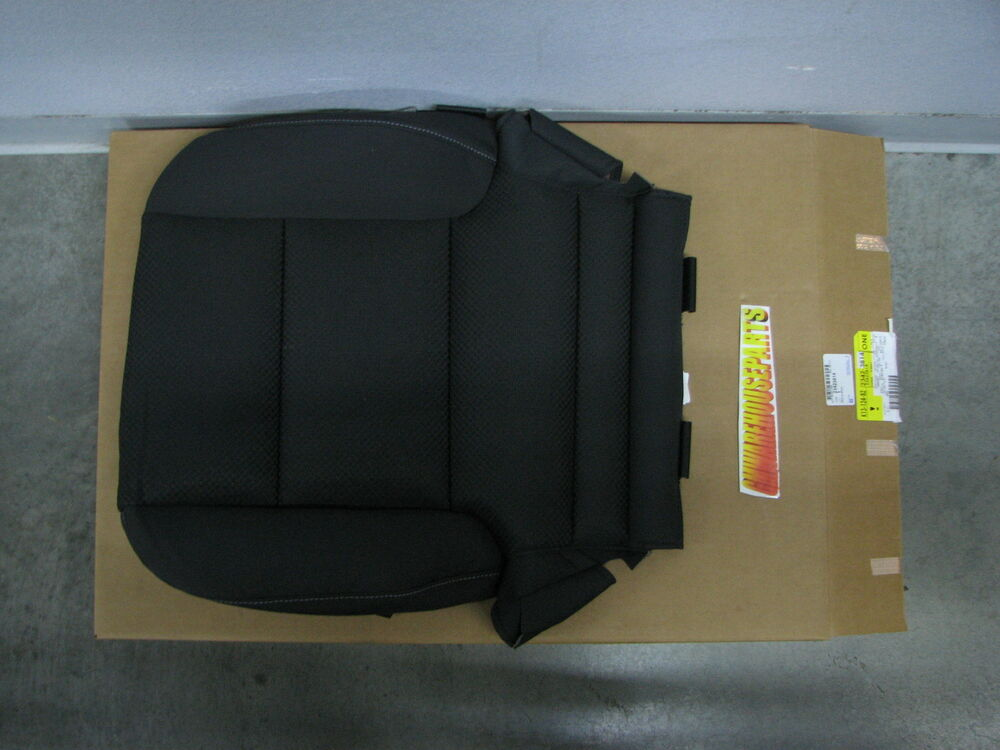 2014 2017 Silverado Sierra Black Cloth Front Seat Bottom