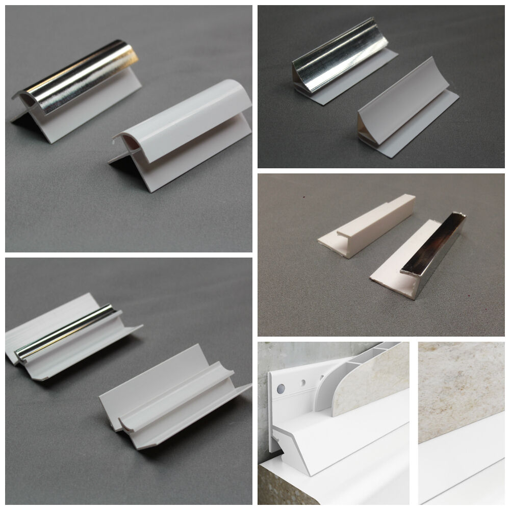 Trims For Bathroom Panels Cladding All Types Colours Pvc End Caps Internals Ebay
