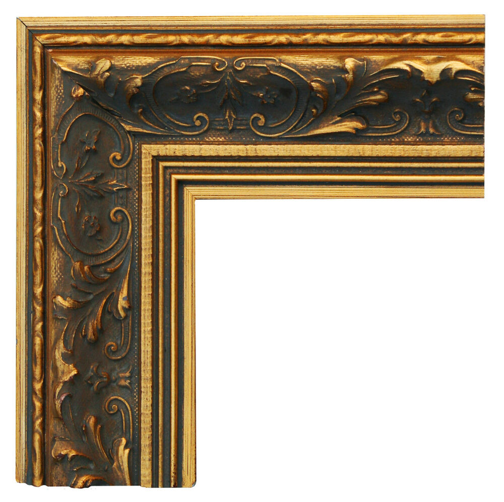 wide ornate gold gilt wooden picture frame hand made to fit our canvas prints ebay. Black Bedroom Furniture Sets. Home Design Ideas