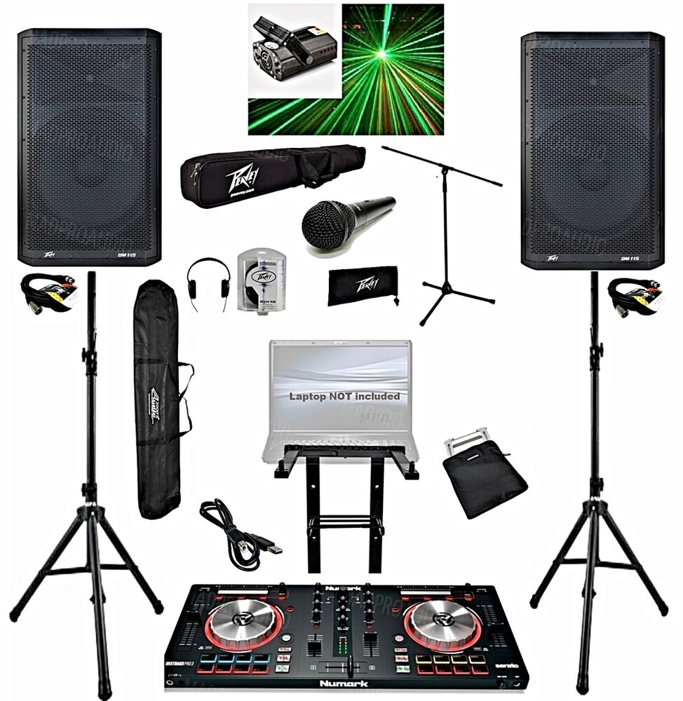 how to connect numark party mix to speakers