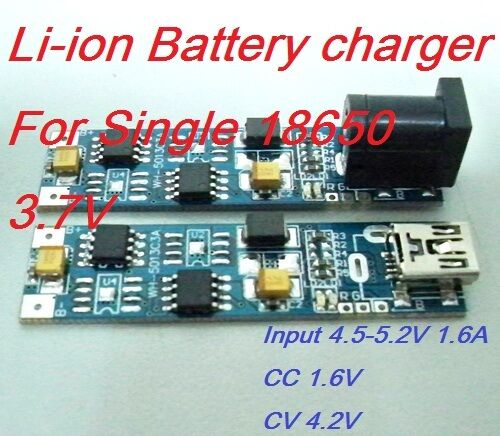 Pcb Charger For Single Li Ion Cell 3 7v 18650 Battery 1 4a