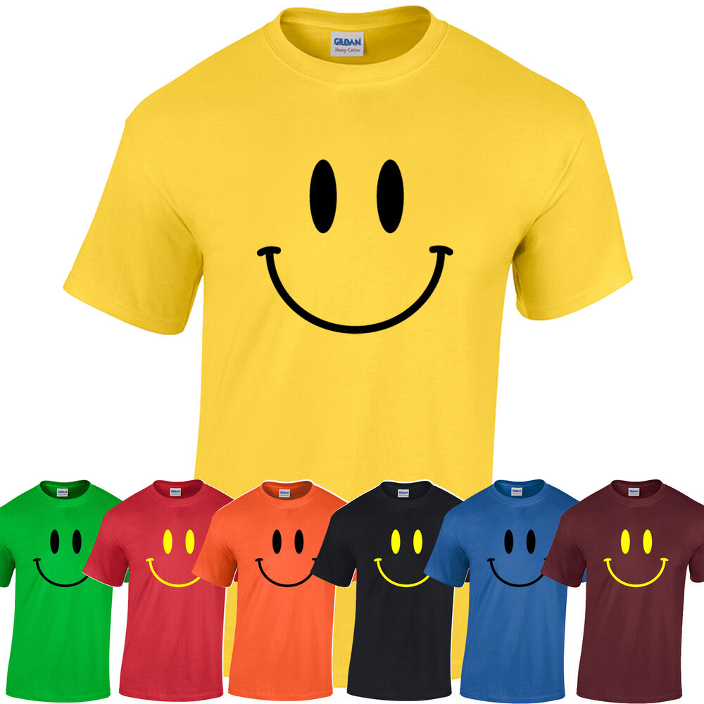 Smiley t shirt range of colours s xxl acid house retro for Best acid house albums