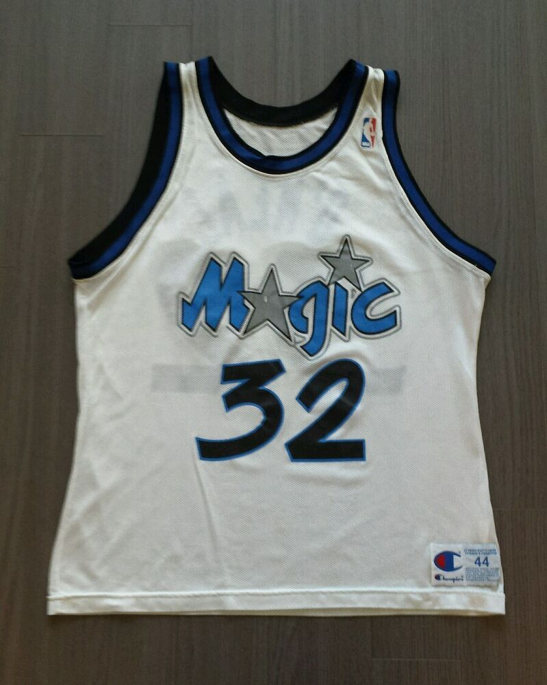 97a54db4 Vintage Champion Orlando Magic #32 Shaquille O'neal NBA basketball jersey  44 | eBay