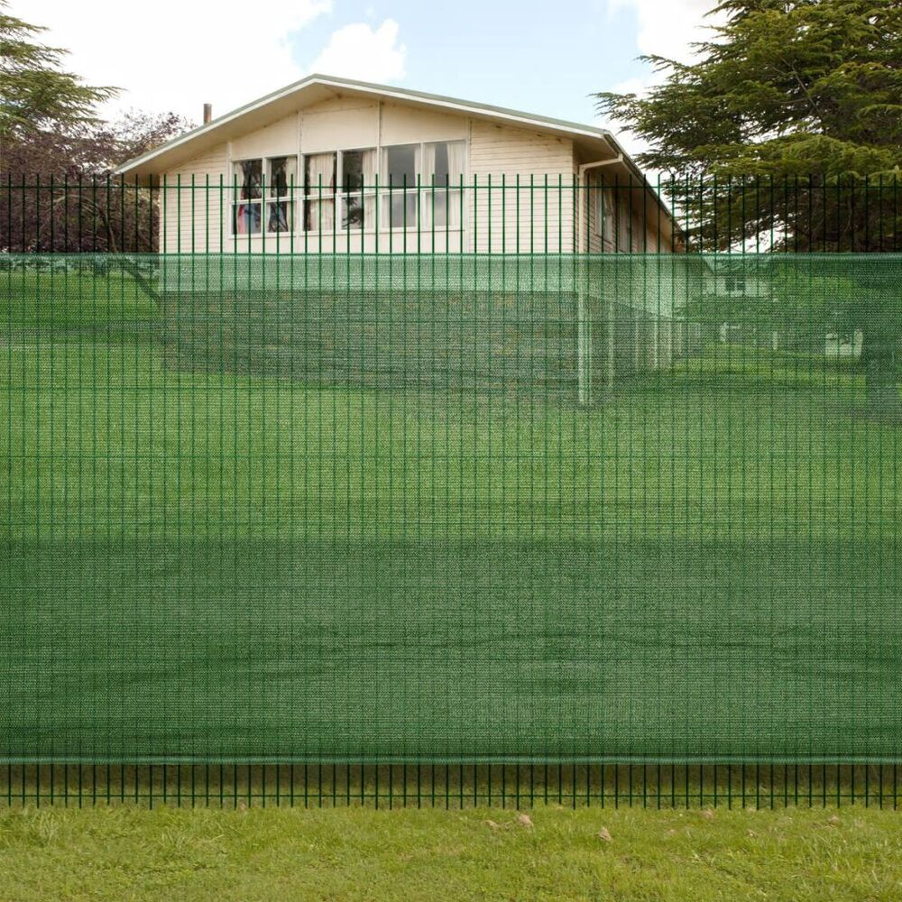 Fence privacy screen mesh green windscreen fabric netting outdoor yard 8 sizes ebay - Terras camouflagenetten ...