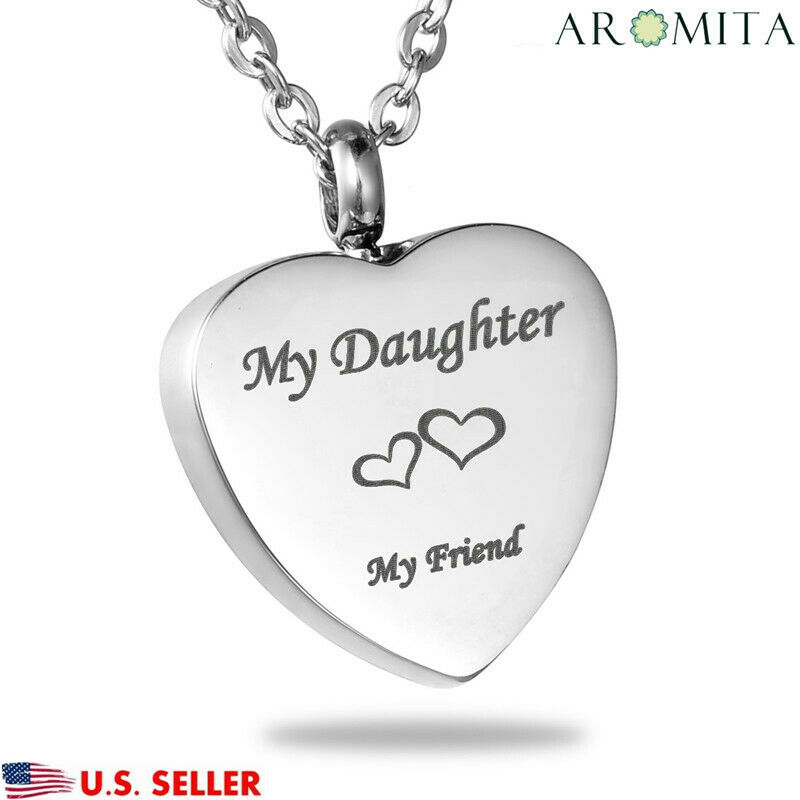 My daughter my friend heart cremation jewelry keepsake for Father daughter cremation jewelry