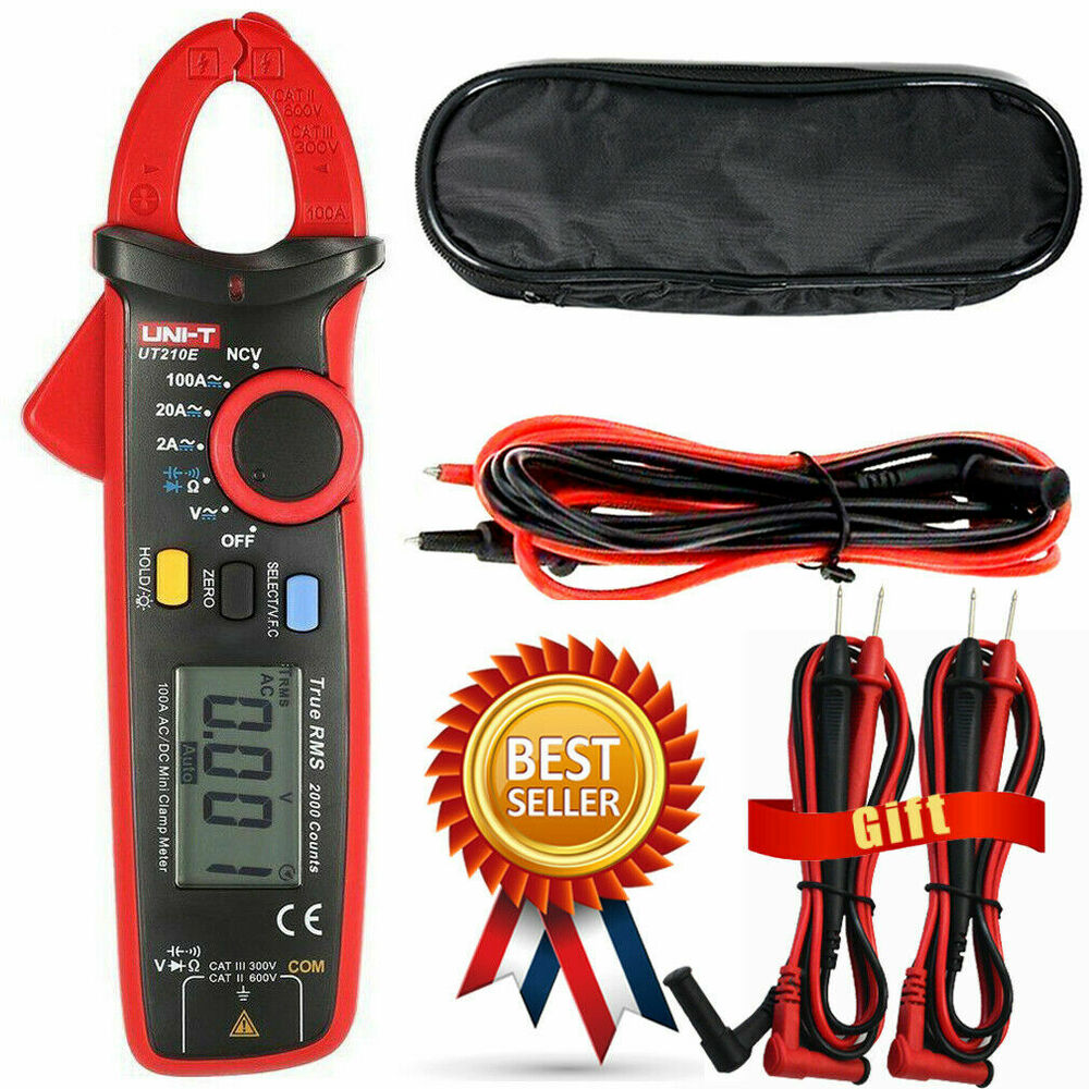 Ac Dc Clamp Meter : Uni t ut e digital clamp meter multimeter handheld rms