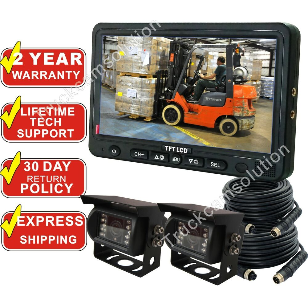 Skid Steer Backup Camera System : Rear view backup camera system cctv quot monitor with two