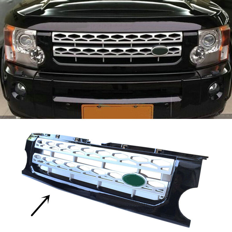 For Land Rover Discovery LR3 2005-2009 Silver + Black