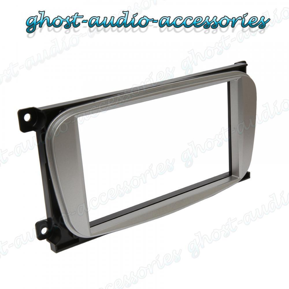 Ford Silver Double Din Car Cd Stereo Radio Facia Fascia Surround Full Bose Fitting Kit Wiring Harness Ebay Adaptor Plate