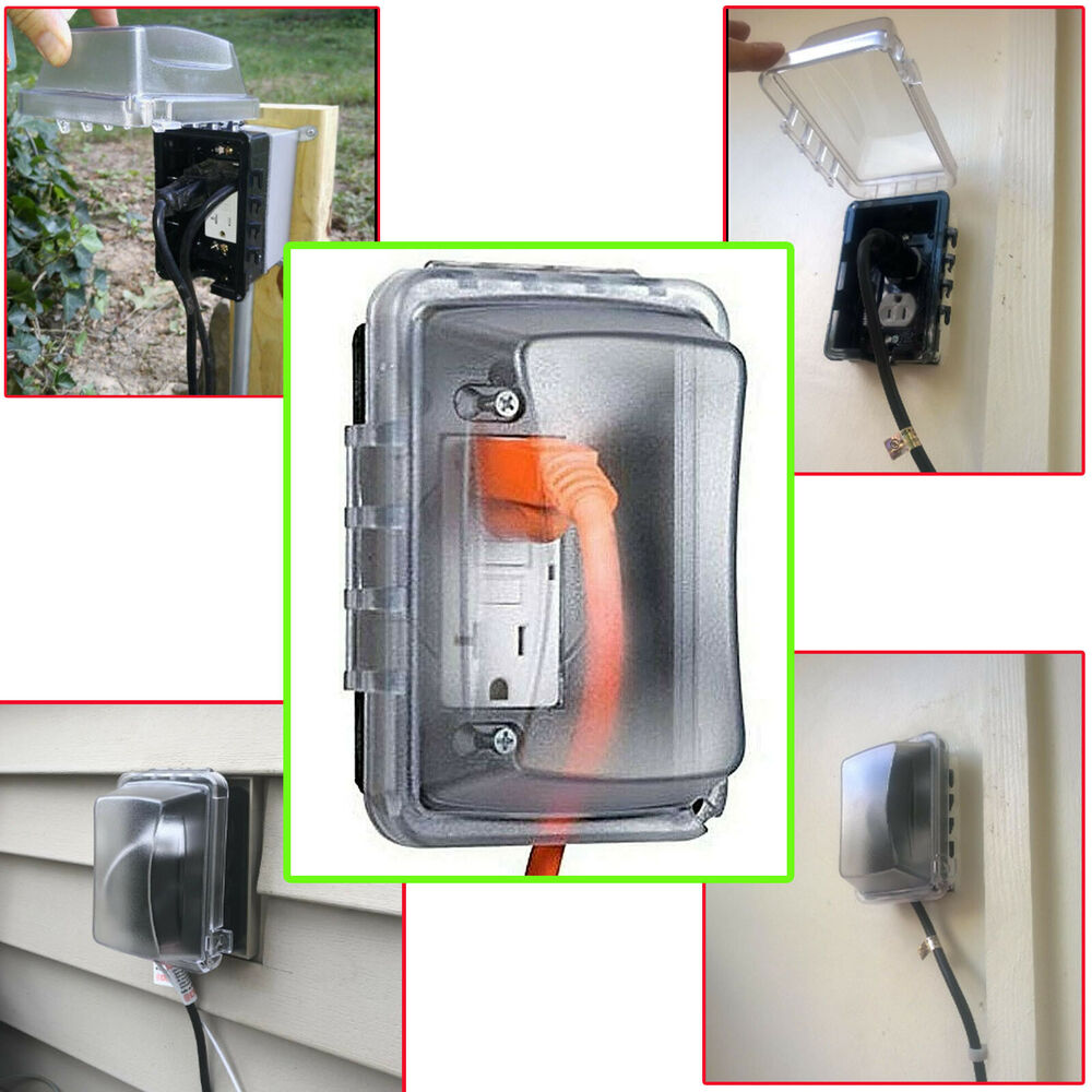 Weatherproof Outlet Outdoor Electrical Plug Receptacle