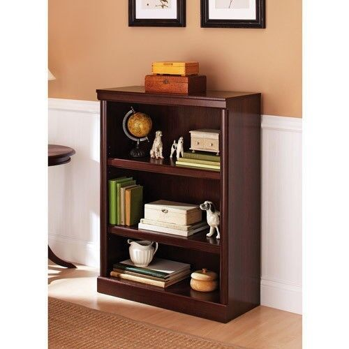 Cherry Wood Bookcases ~ Small bookcase shelf cherry wood modern home office