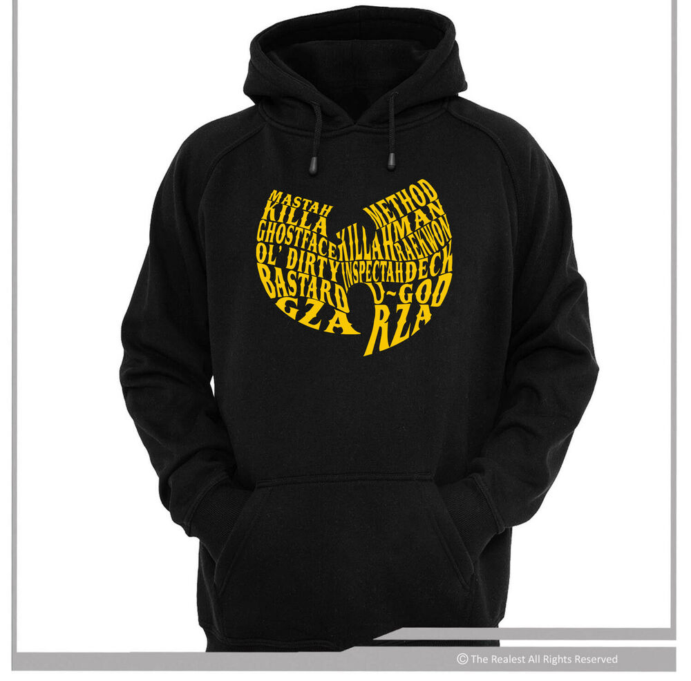 wu tang typography hoodie hoody sweater sizes m 2xl hip. Black Bedroom Furniture Sets. Home Design Ideas