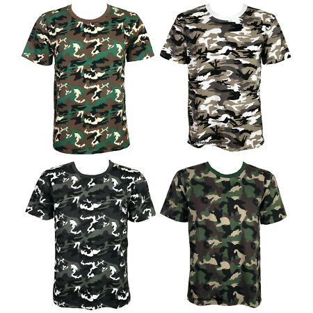 img-Mens Military Camouflage T Shirt Army Camo Combat Tee Summer Beach Top Jungle