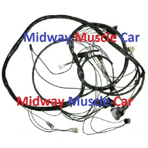 front end headlight wiring harness with headlights 1969 pontiac gto judge ebay