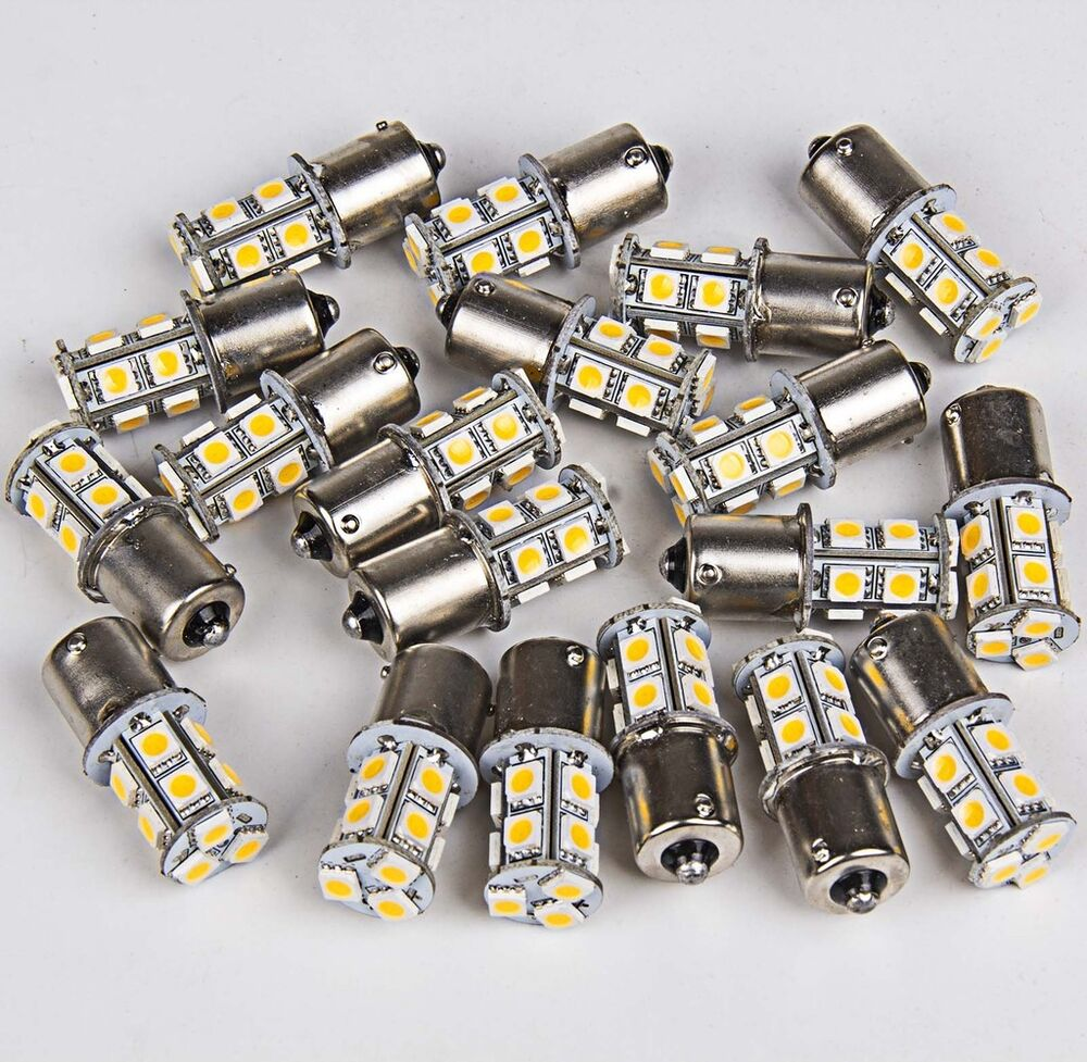 20 X Warm White 1156 Rv Camper Trailer 13 Smd Led 1141