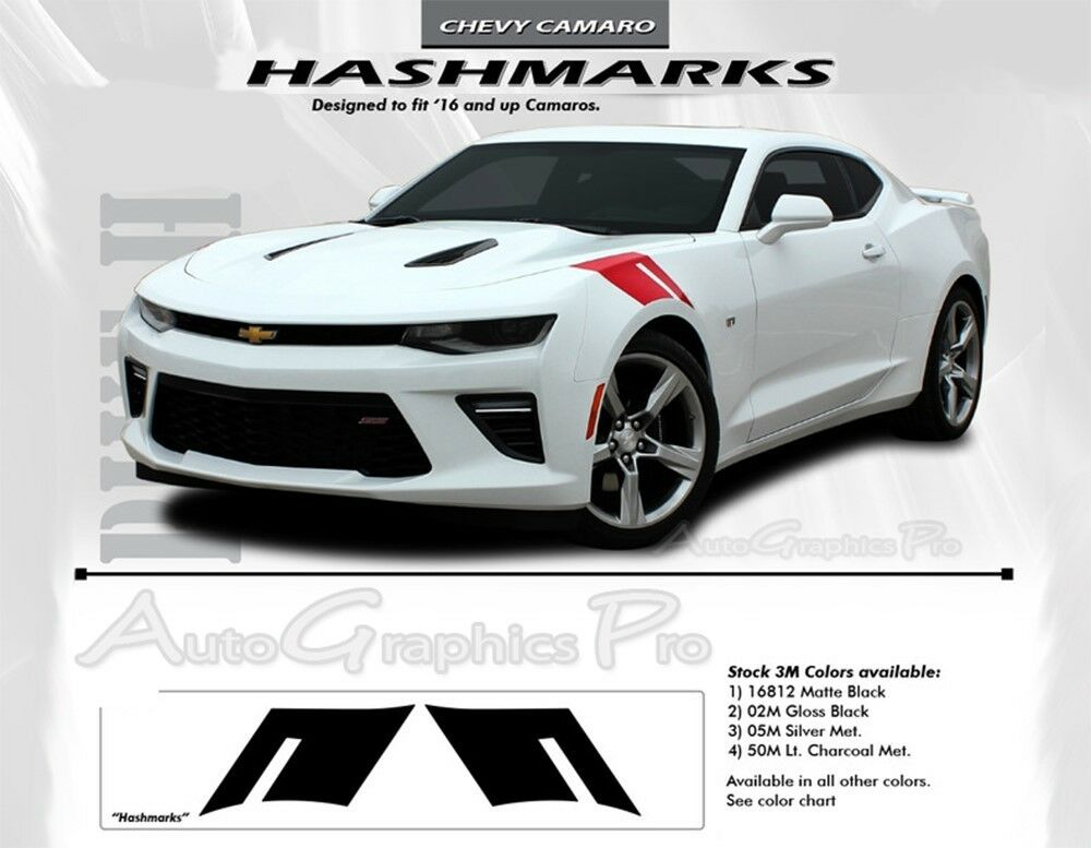 2016 2018 Chevy Camaro Ss Rs Hashmarks Decals Stripe Kit