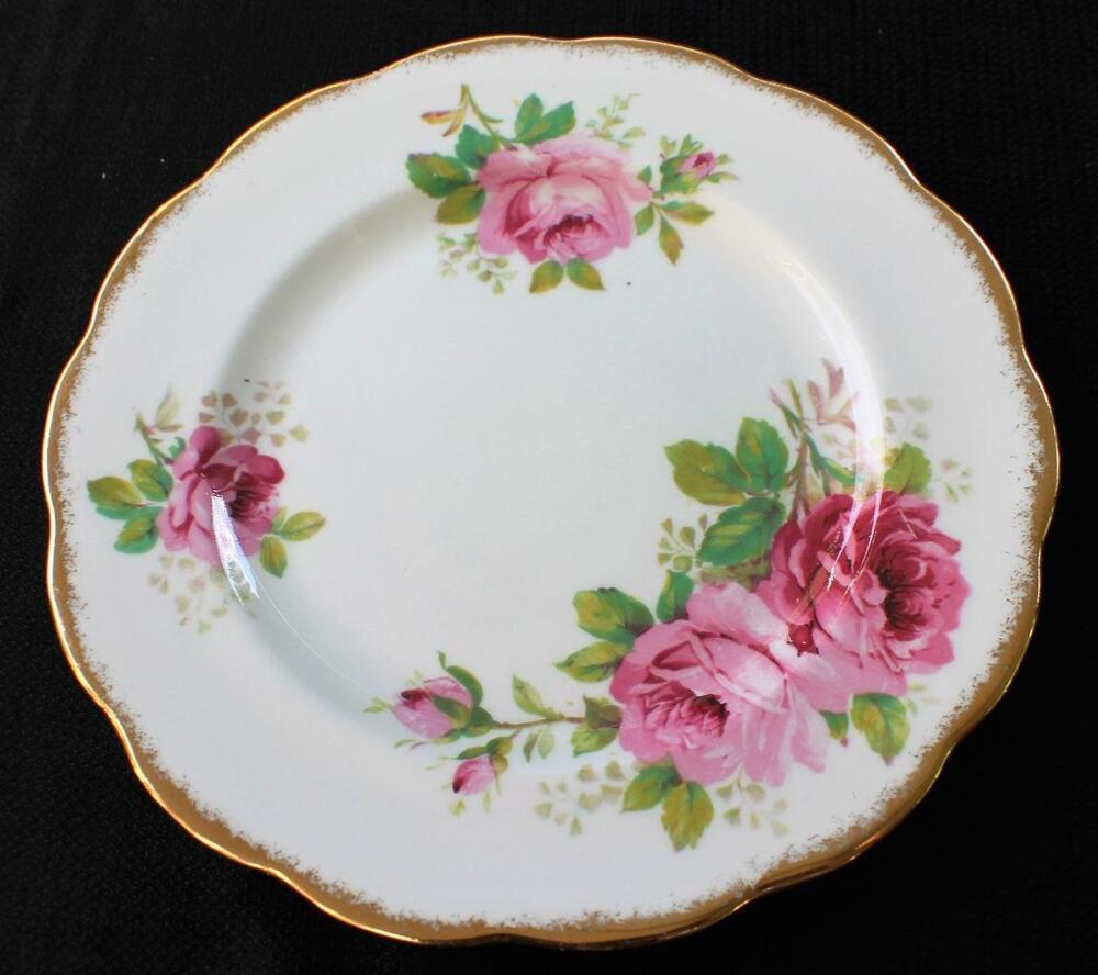 vintage royal albert england bone china american beauty pattern 8 1 4 plate ebay. Black Bedroom Furniture Sets. Home Design Ideas