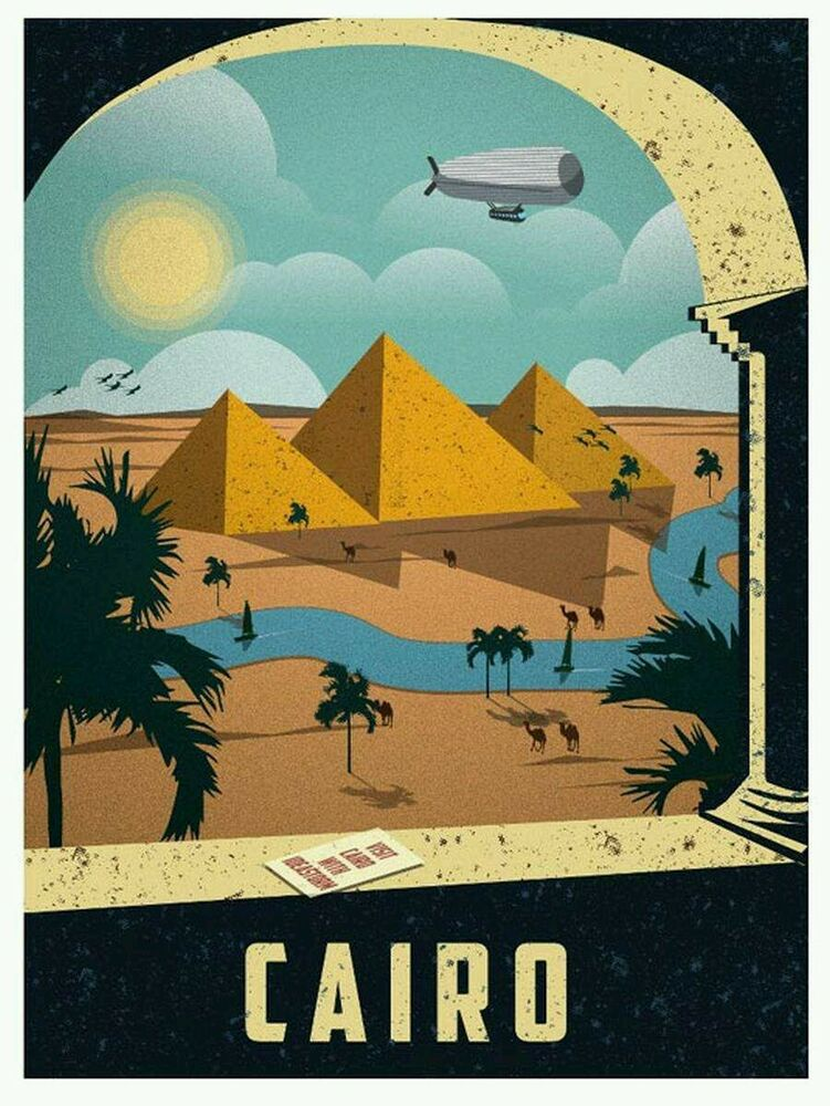Egypt cairo pyramids vintage travel amazing wall silk for Retro house music
