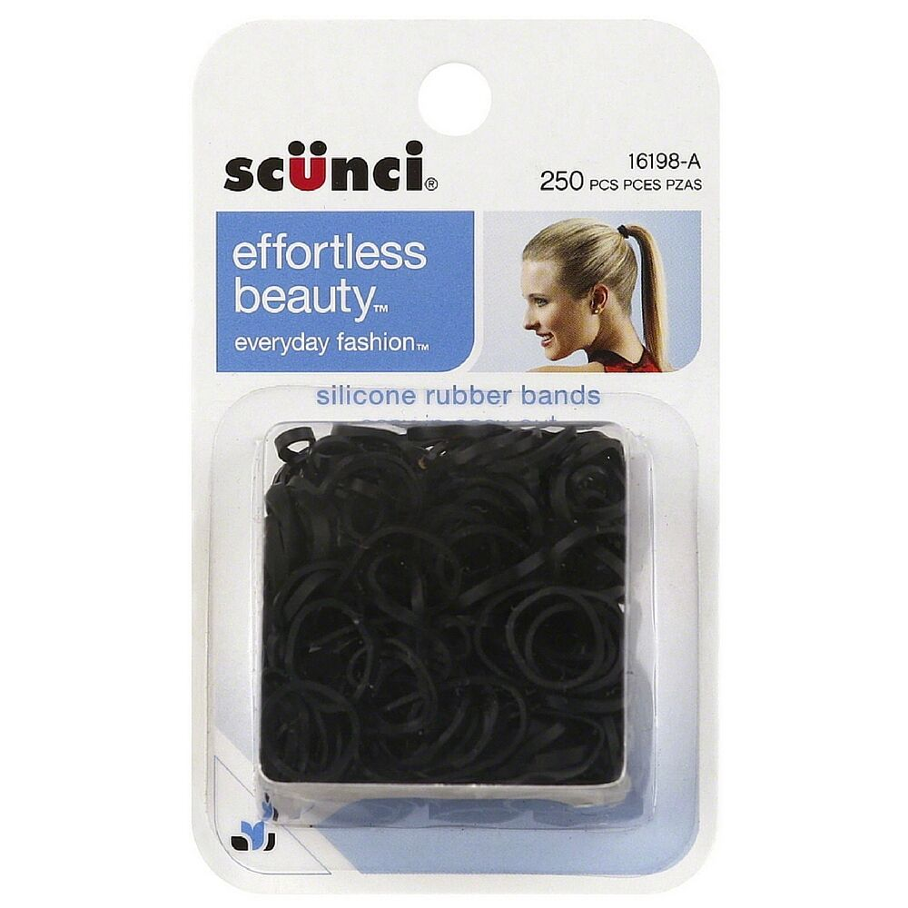 Scunci Silicone Hair Rubber Bands 250 Ea Pack Of 2 Ebay