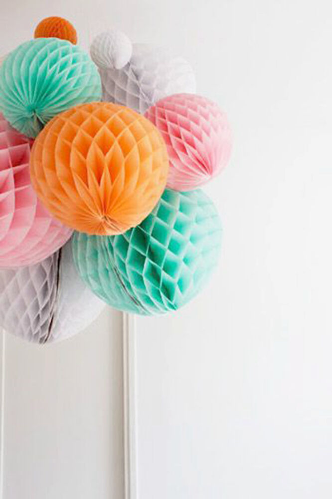 9pcs/set Party Hanging Decoration Tissue Paper Honeycomb