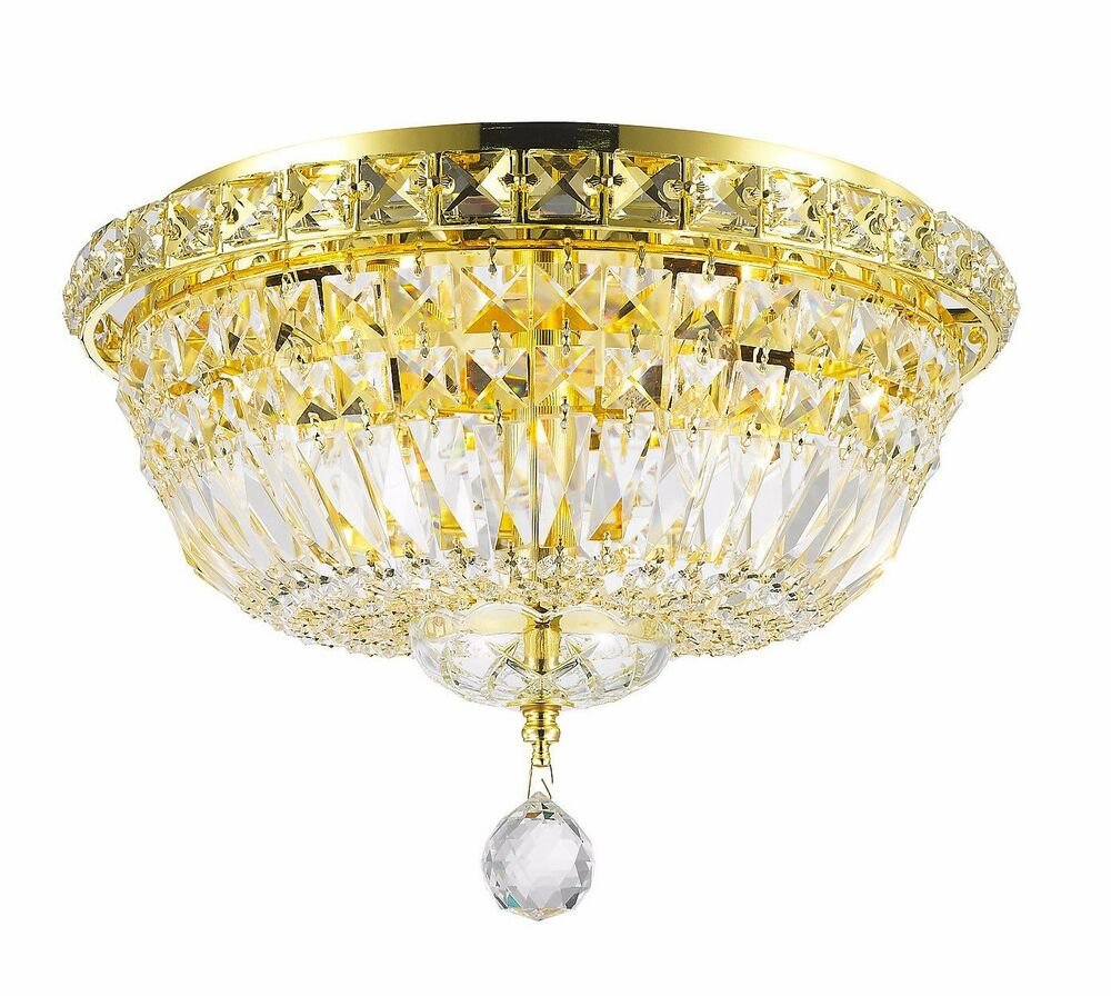 4 light gold finish d 14 x h 9 empire crystal ceiling