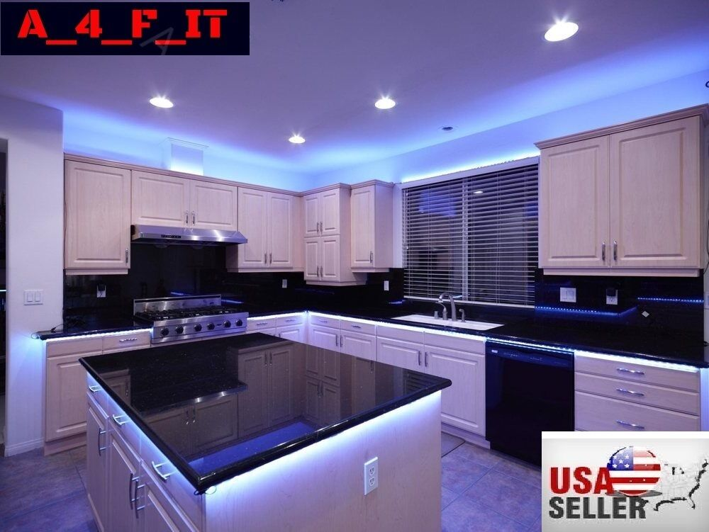 led strips for kitchen cabinets kitchen cabinet led glow rgb light 17ft smd 8969