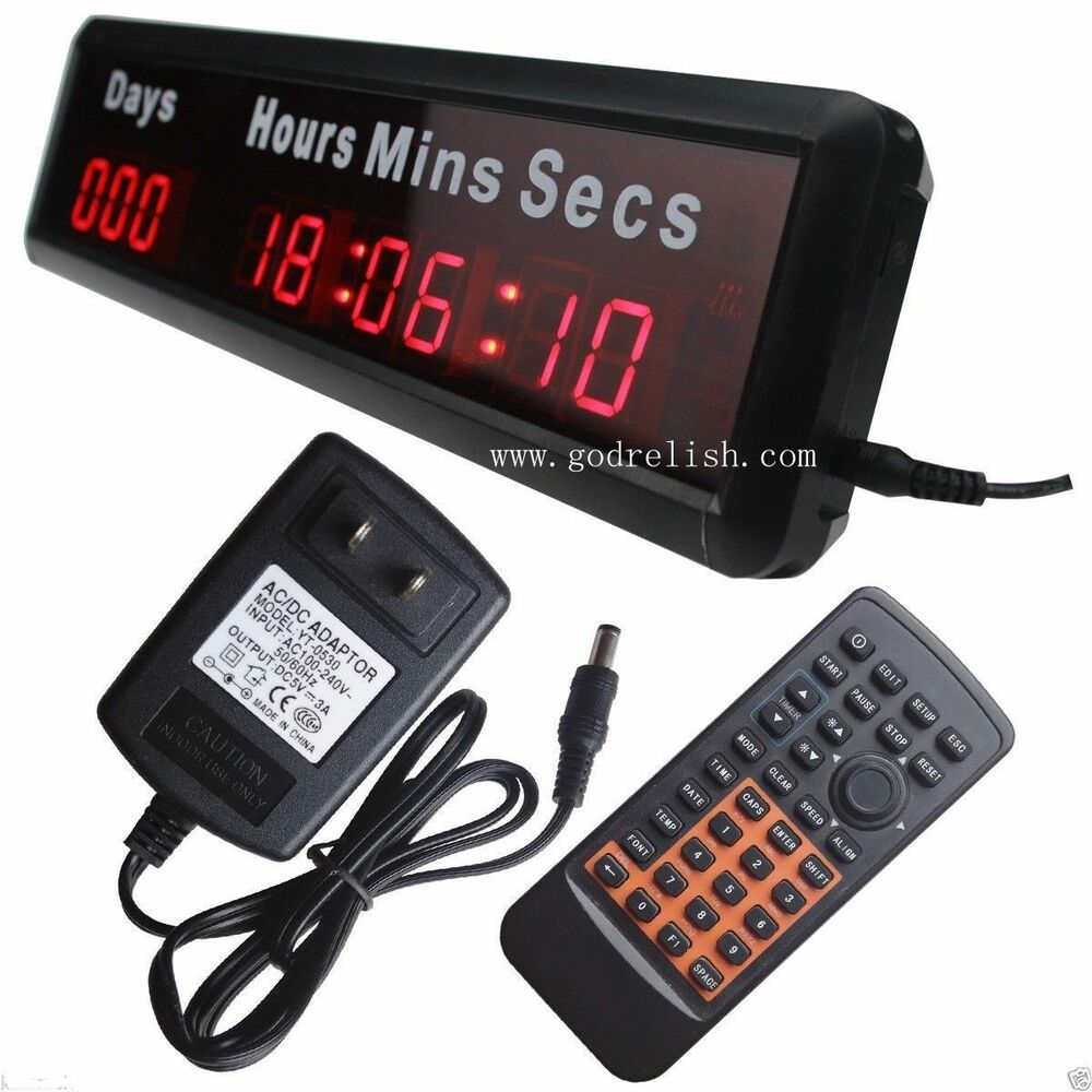Mini 1 Quot Red Led Countdown Clock 9 Digital Wall Clock